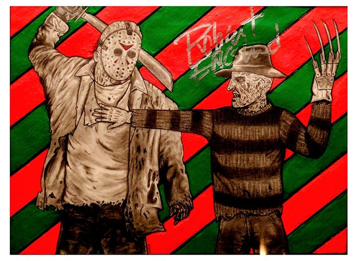 Clash of the Horror Icons - Kevin Hamilton Art