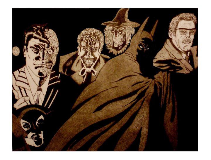 The Dark Knight Begins - Kevin Hamilton Art