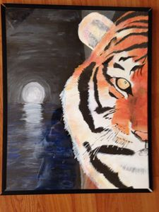 Moon lit Tiger