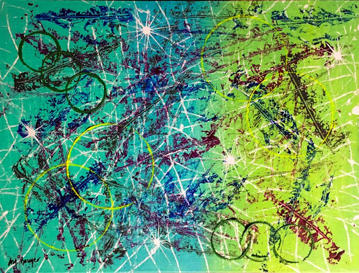 Virescent Rings - Art Created By MJ Bowyer