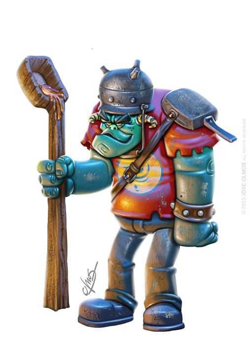 Red Ogre - OLMOS ARTWORK
