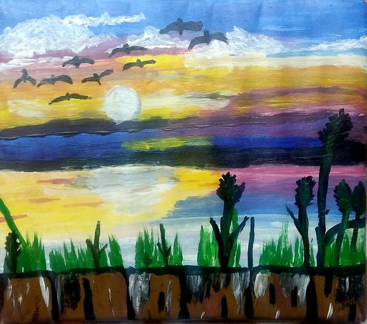 seascape - Love acrylic paintings