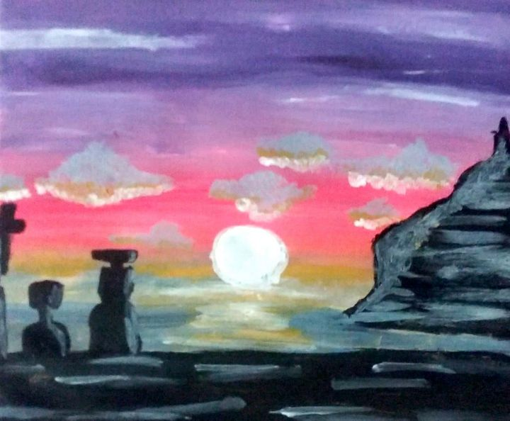 landscape - Love acrylic paintings