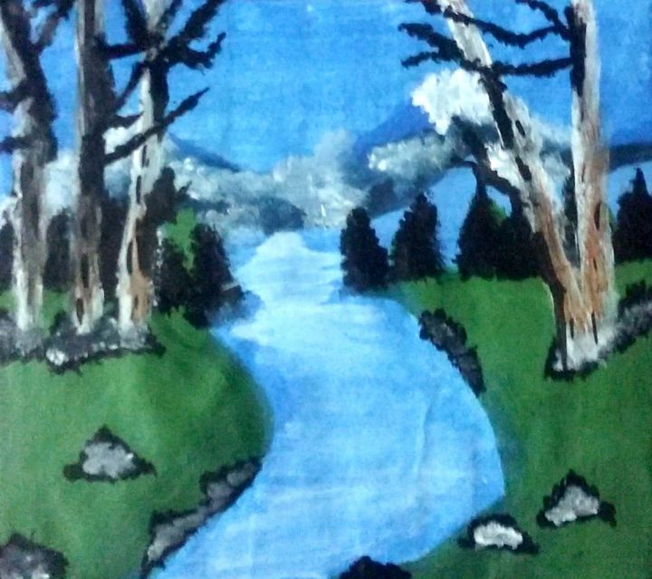 landscape painting - Love acrylic paintings