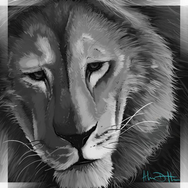 The Thoughtful Lion's Gaze - Inspirational Wonders of Nature, by ArceeTheVixen