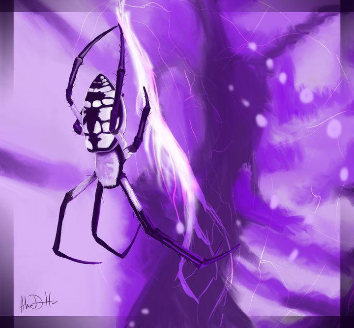 The Purple Spider - Inspirational Wonders of Nature, by ArceeTheVixen
