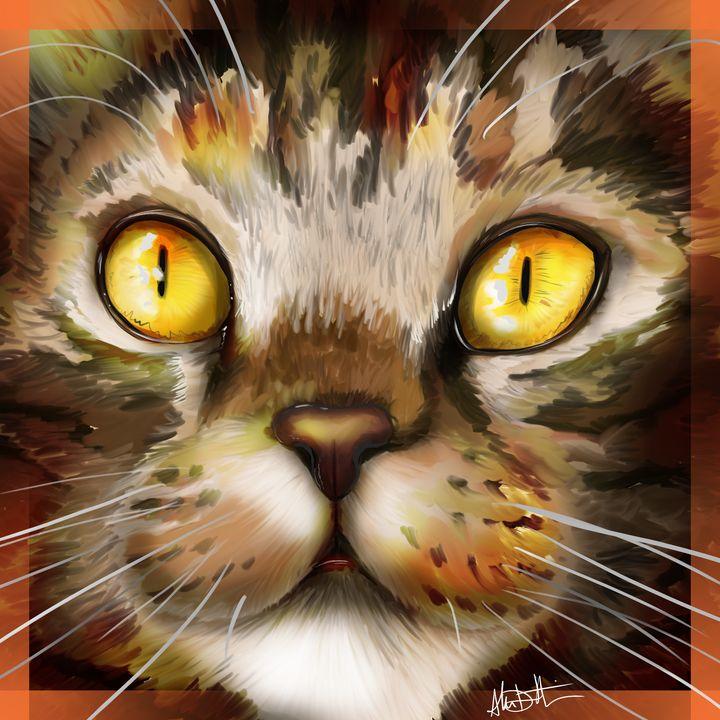 The Face of a Feline's Focus - Inspirational Wonders of Nature, by ArceeTheVixen
