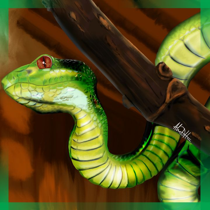 The Viper in the Trees - Inspirational Wonders of Nature, by ArceeTheVixen