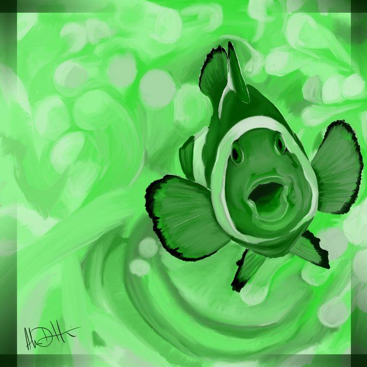 The Green Clownfish Singer - Inspirational Wonders of Nature, by ArceeTheVixen