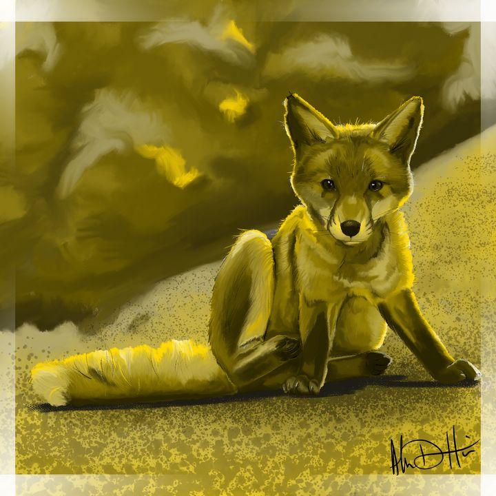 The Fox Kit's Sit - Inspirational Wonders of Nature, by ArceeTheVixen
