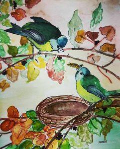 Beautiful birds art
