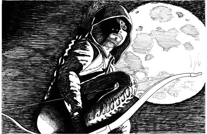 Arrow with Moon - Mitchell Studios