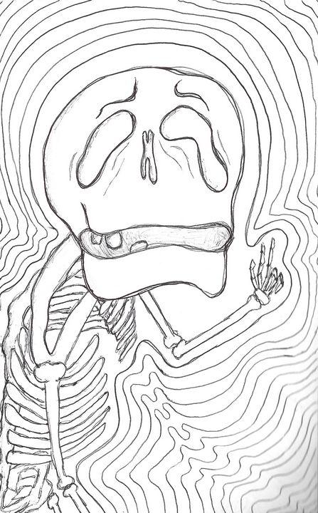 Sketchy Skeleton - Honey Dream Studio