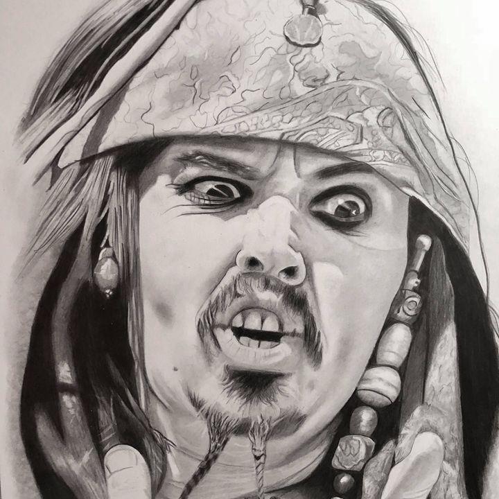 Captain jack sparrow - debz drawings