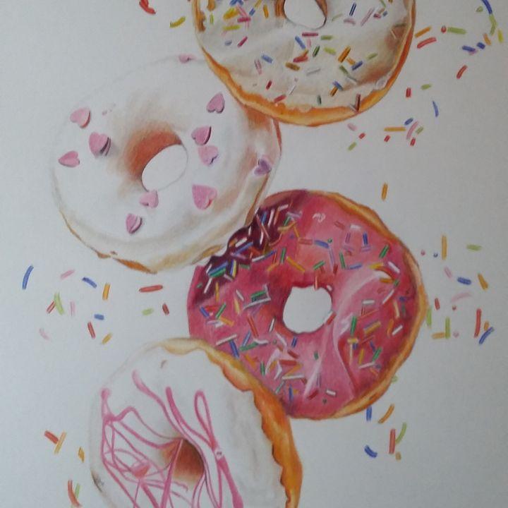 Doughnut delights - debz drawings