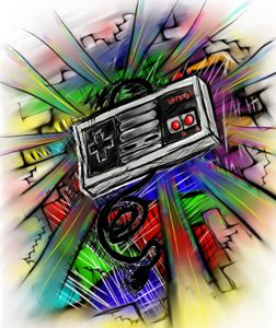 Sketchy style nes controller