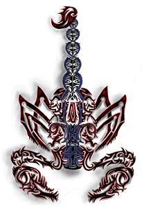 tribal celtic scorpian