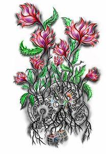 Flowers in gear