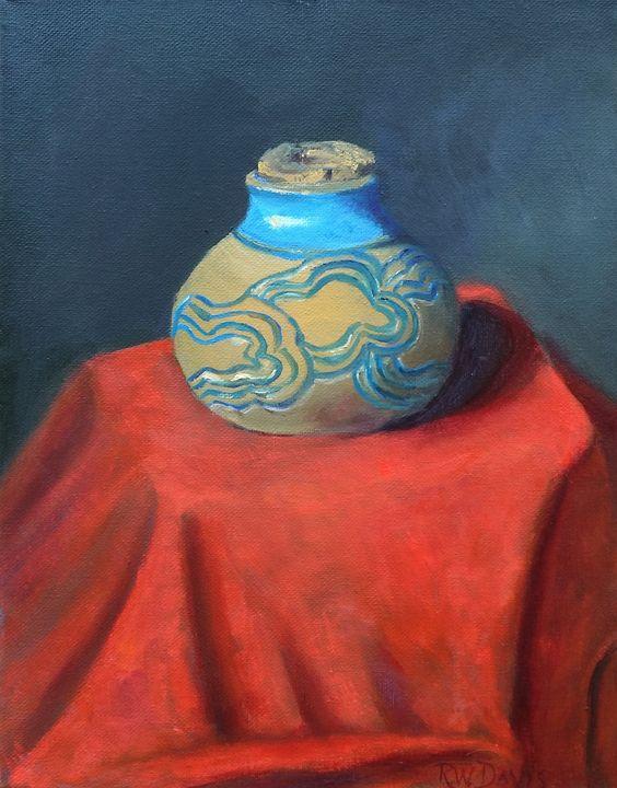Hand Made Jar with Cork - R.W. Davis