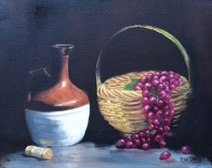 Jug with Grapes