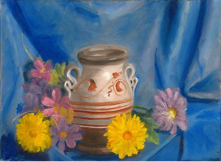 Small Vase with Flowers - R.W. Davis
