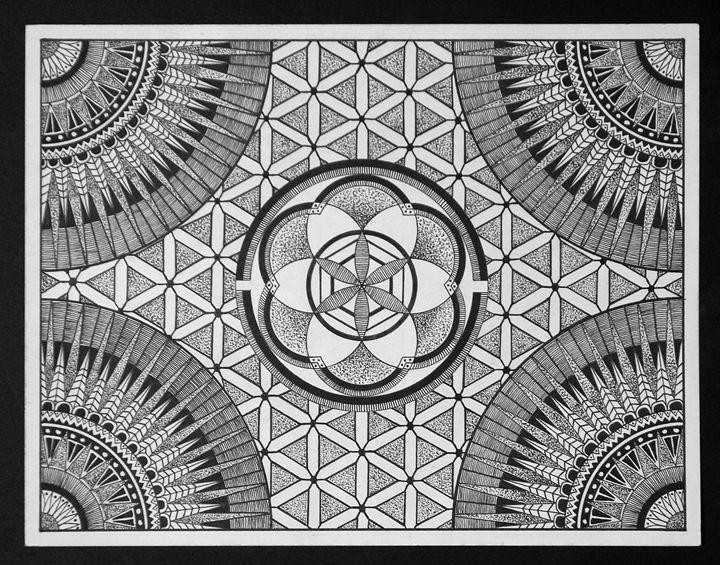 Seed of life Mandala - ArtisZen