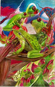 Frolicking Frogs