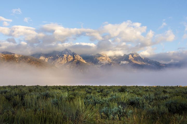 Foggy Teton Sunrise - Grand Tetons - Brian Harig Photography