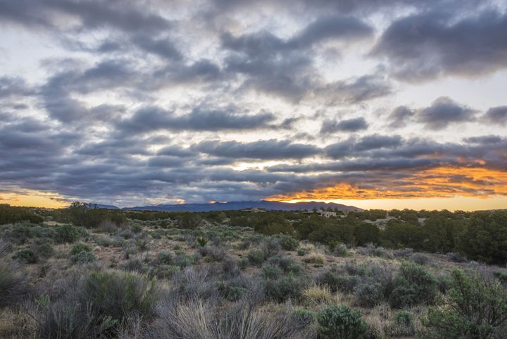 Stormy Santa Fe Mountains Sunrise - Brian Harig Photography