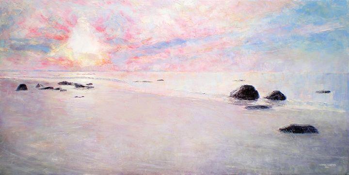 Sunrise Over Beachfront (2014) - Daniel Cormier Oils on Canvas