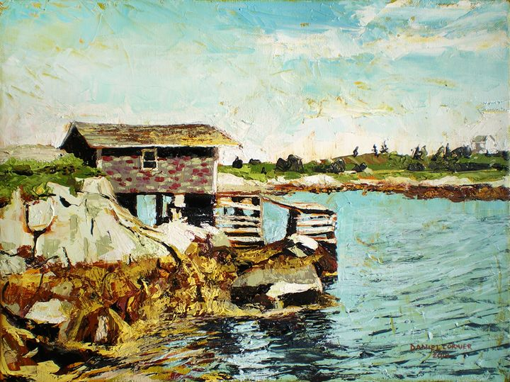 Old Fishing Shack, Prospect, NS (201 - Daniel Cormier Oils on Canvas