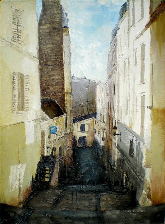 Montmartre Looking Down, Montmartre, - Daniel Cormier Oils on Canvas