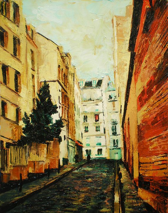 Montmartre with Spruce, Montmartre, - Daniel Cormier Oils on Canvas