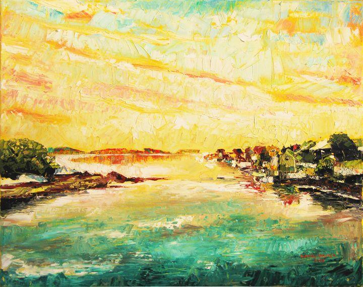 Sunset on Shaw's Landing - Daniel Cormier Oils on Canvas