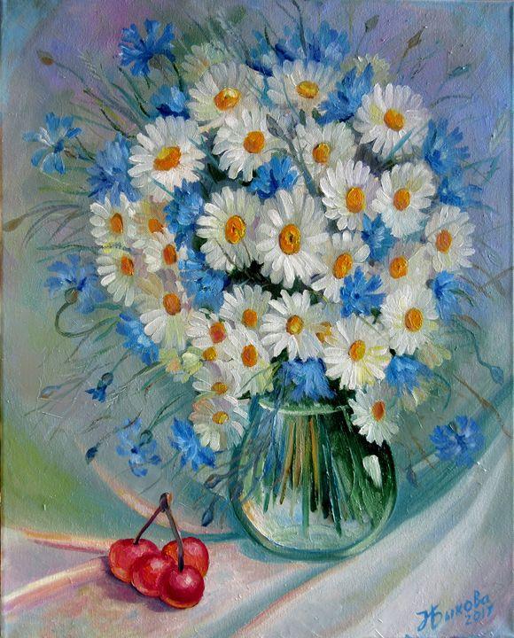 Bouquet of chamomile - Nadia Bykova