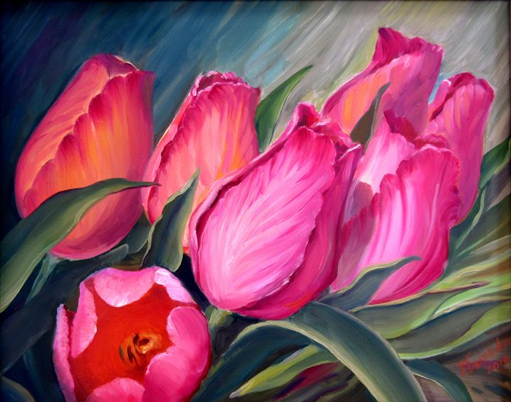 Red Tulips - Nadia Bykova