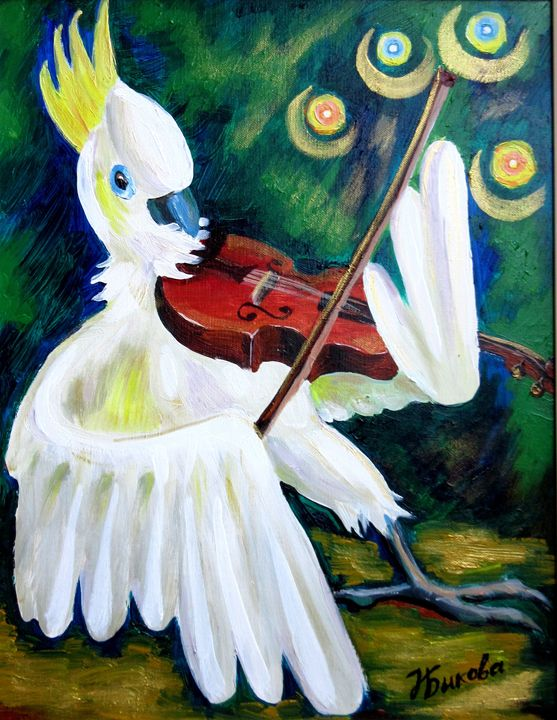 Parrot Plays Violin - Nadia Bykova