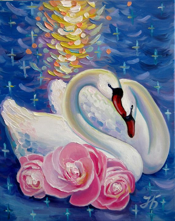 Swans Faithfulness - Nadia Bykova