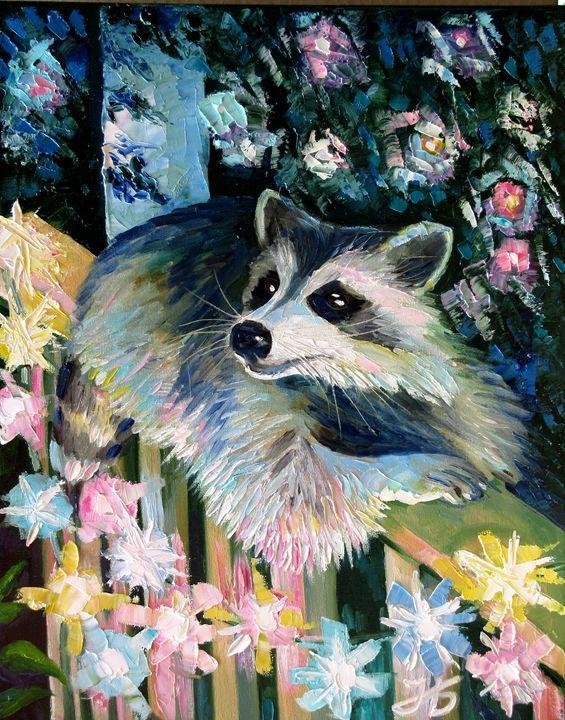 Unexpected Guest (Raccoon) - Nadia Bykova
