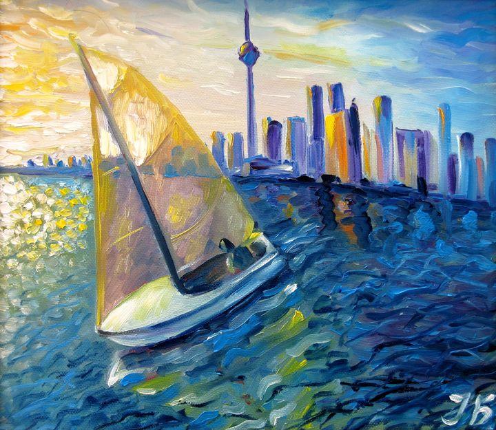 Sailboat at Downtown Toronto - Nadia Bykova