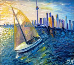 Sailboat at Downtown Toronto