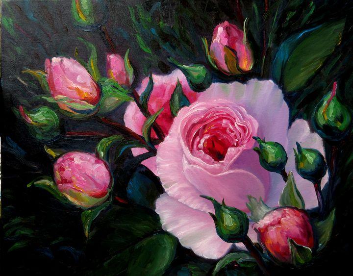 Pink roses - Nadia Bykova