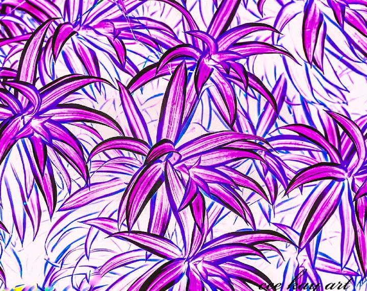 Digital Art: ABSTRACT Spider Plant, - Cee Kay Creations