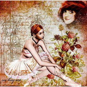 French Ballerina: Digital Art. - Cee Kay Creations
