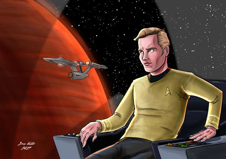 Captain's Series: James T. Kirk - Dan Voltz Art Store