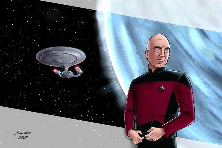 Captain's Series: Jean-Luc Picard - Dan Voltz Art Store