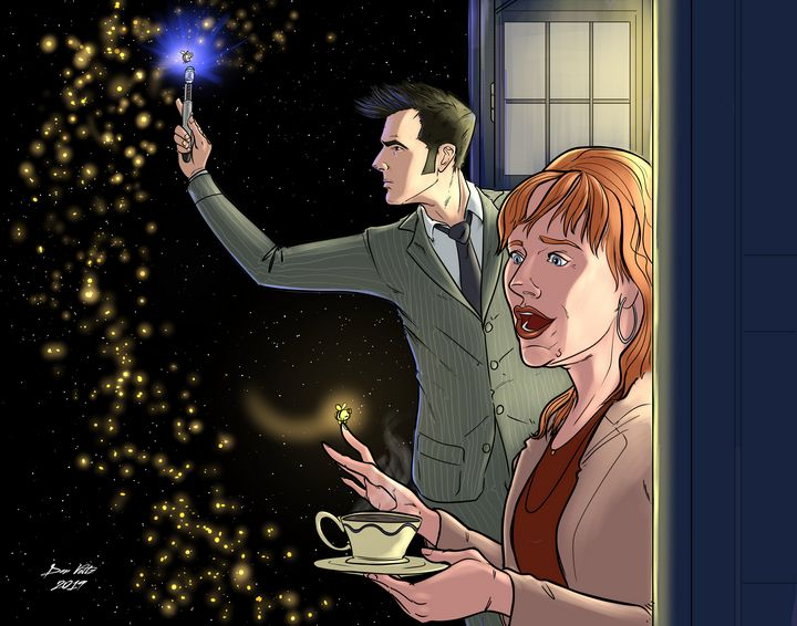 The Doctor and Donna - Dan Voltz Art Store