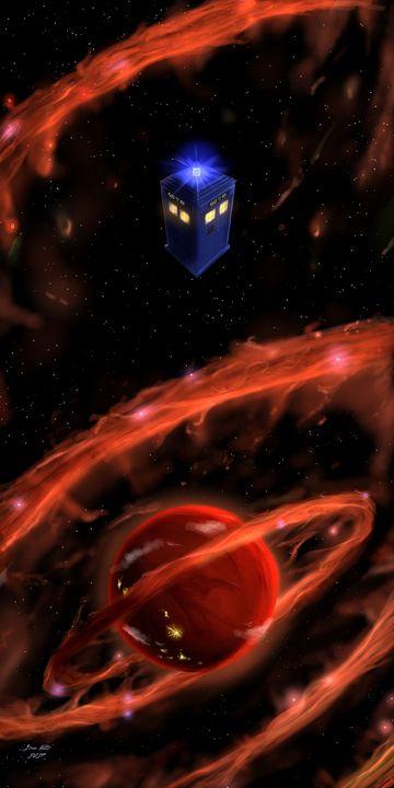 TARDIS in Space - Doctor Who Fan Art - Dan Voltz Art Store