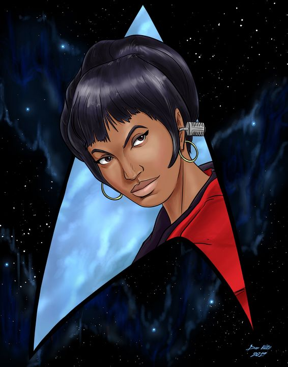 Uhura - Always Listening - Dan Voltz Art Store