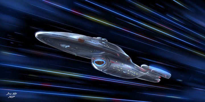 The Long Voyage Home -- USS Voyager - Dan Voltz Art Store